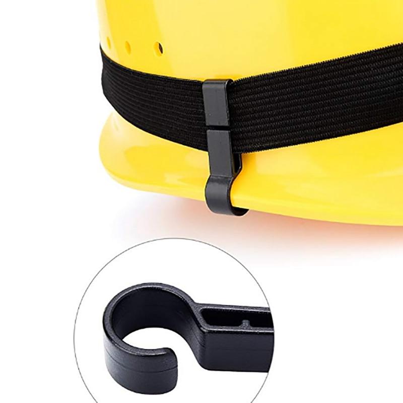 10x Headlamp Helmet Clips Plastic Hard Hat Safety Cap Light Head Torches Hooks