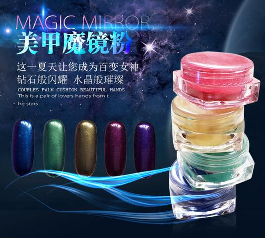 Beauty Nail Polish Powder Rhinestones Discoloration Silver Nail Glitter Magic Domestic Mirror