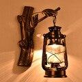 Ретро Ностальгический кованый железный фонарь настенный светильник креативный чердак сетка Garman кофе бар лестница лампа оптовая продажа