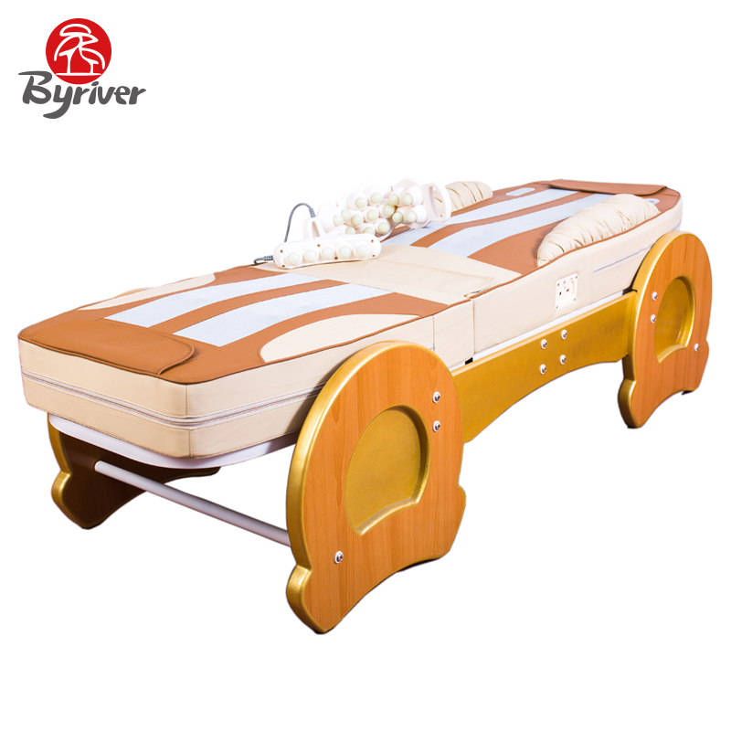 byriver factory direct sale 7pcs jade stone roller massage bed table massager - Massage Table For Sale