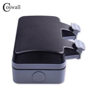 Image 3 - Coswall prise électrique 16a, 2 gangs, étanche IP66 pour lextérieur, pour mur noir, prises électriques, normes ue