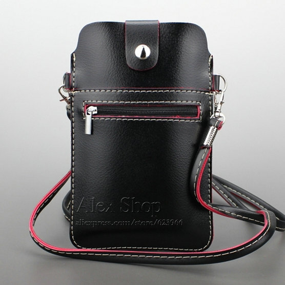 separation shoes ce554 ca09b US $11.98 |Universal Cell Phone Crossbody Bag With Shoulder Strap, High  Quality Leather Wallet Case Pouch, For Samsung iPhone 6 6s Plus on ...