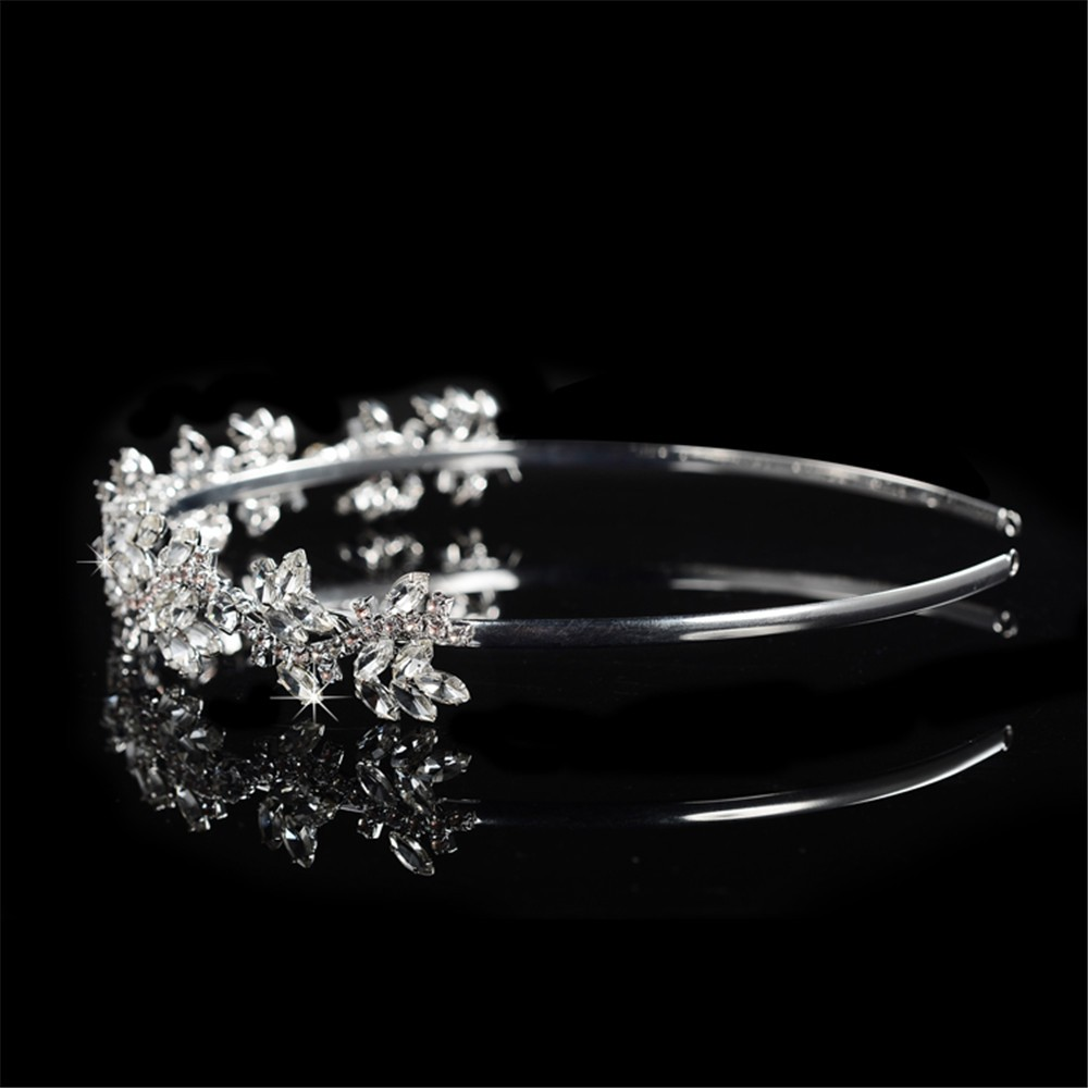 925 sterling silver luxury shine AAA CZ diamond tiara for women party wedding hair acessorios bridesmaid crown 585 gold plated crystal jewelry HF046 (3)