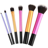 6 PCS Makeup Brushes Set Tools Make Up Toiletry Kit Wool Brand Make Up Brush Set