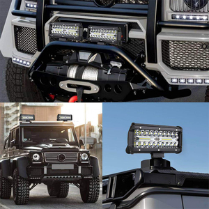 Image 5 - OKEEN LED Light Bar 7Inch Spot Flood Combo Off Road Lights 12V 120W LED Driving Fog Work Light for Jeep Trucks ATV Buggy UTV SUV