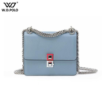 New Fashion Women Leather Bags Famous Brand Design Women Shoulder Bag Trendy Rivet Flap Lady Crossbody Bag C670