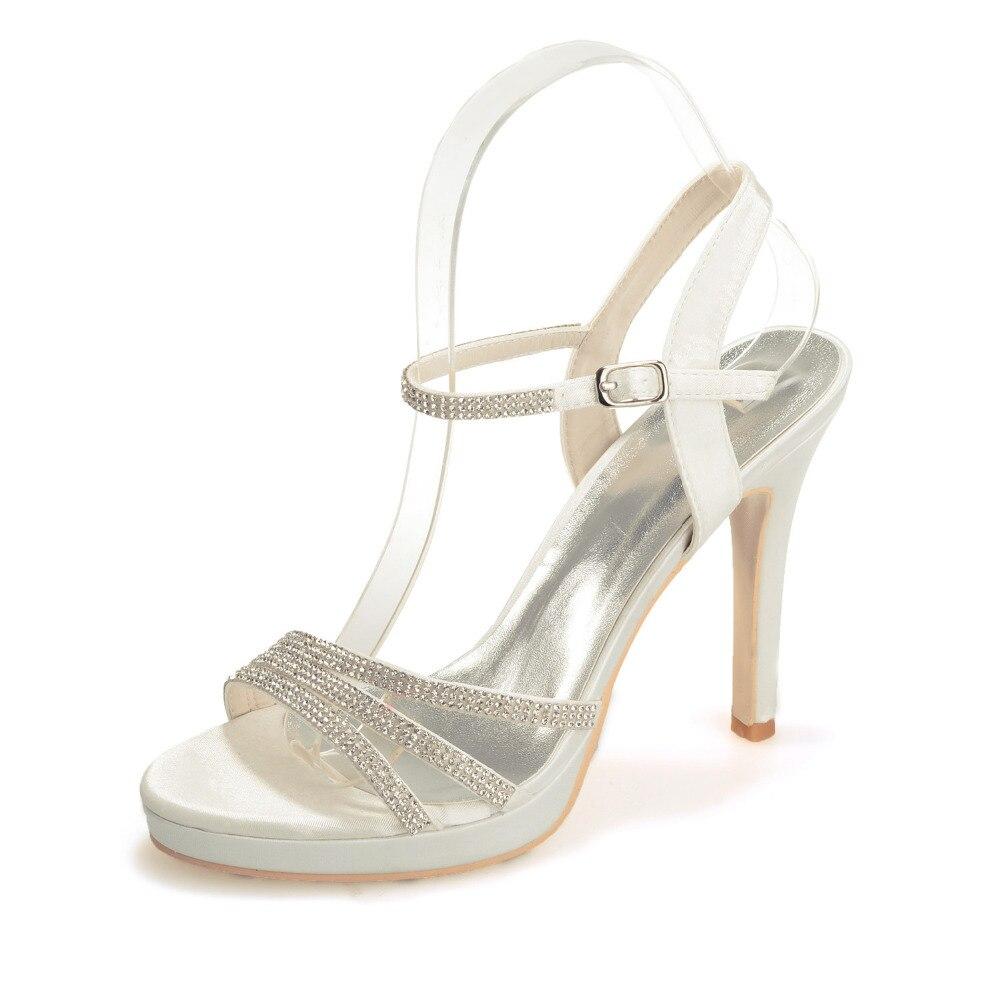 ... 444e7 f35d4 Creativesugar Fashion satin sandals sparkling rhinestone  crystal party summer dress shoes cocktail red white ... 5fe74b6695