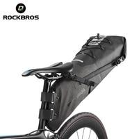 ROCKBROS Waterproof Bike Bicycle Saddle Bag Reflective Large Capacity Foldable Tail Rear Bag Cycling MTB Trunk Pannier Backpack