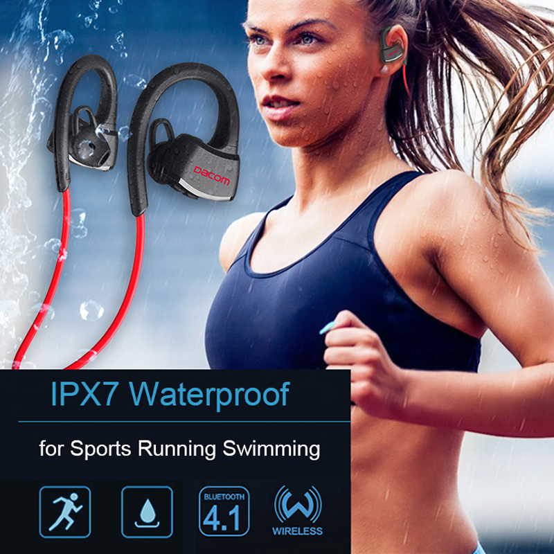 Original Dacom P10 Bluetooth Headset IPX7 Waterproof Wireless Sport Running Headphone Stereo Music Earbuds Headsfree with Mic