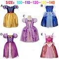 Novo 2015 Fantasia Holloween Festa Infantil Branca de Neve Rapunzel Cinderela Aurora Sofia Infantil Elegante Do Bebê Meninas Princesa Vestido