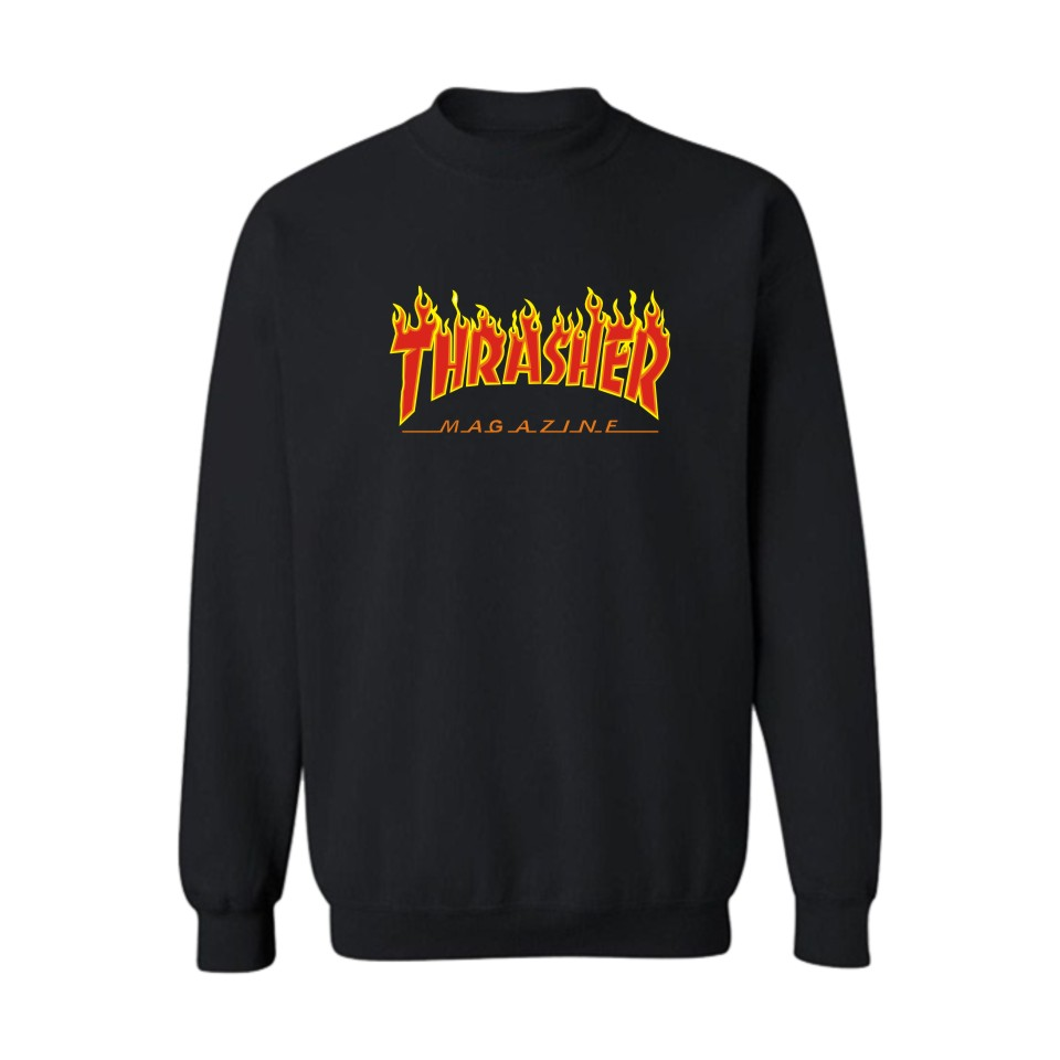 xxs-4xl 2016 men thrasher sweatshirt thrasher magazine  hoodies thrasher flame fire skate sweatshirts trasher