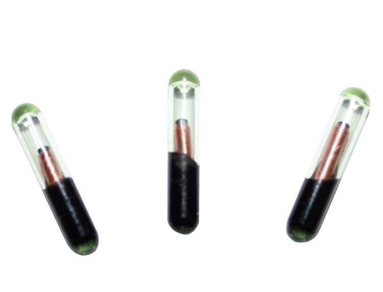 WS Free Shipping 2.12*12mm 20pcs/Lot 134.2khz EM4305 ICAR Animal Glass Tube Tag RFID Microchip