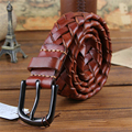Trenzada hecha a mano Primera Capa de Cinturón de Cuero Genuino de Calidad SUPERIOR Los Hombres de Lujo de la Correa de Cintura Ancha Correa de Ceinture Homme Hombres MBT0014