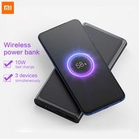 Xiaomi Wireless Power Bank 3 20000 Qi Fast Wireless Charger Mi Powerbank 10000 for iphone bateria externa PLM11ZM
