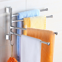 1pcs Stainless Steel Rotated Towel Towel Holder Bathroom Rack Polished Holders Wall Mounted Kitchen Organizer F