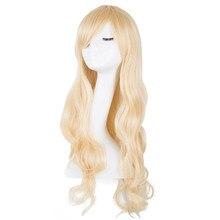 Светильник, парик из синтетического термостойкого волокна, длинные вьющиеся наклонные челки, Женский костюм