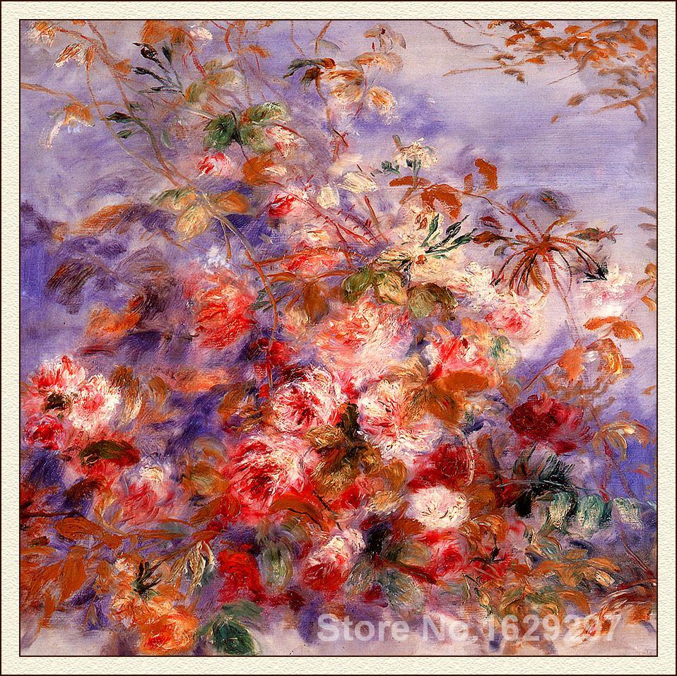 Sell Paintings Online Pierre Auguste Renoir Reproduction Of Roses By - Sell paintings online