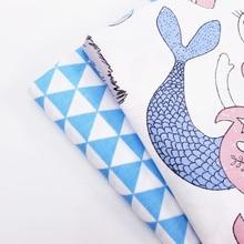 Childish Style Printed Cotton Twill Fabric Cartoon Animal/Geometric Patterns Printing DIY Quilting Sewing Handmade