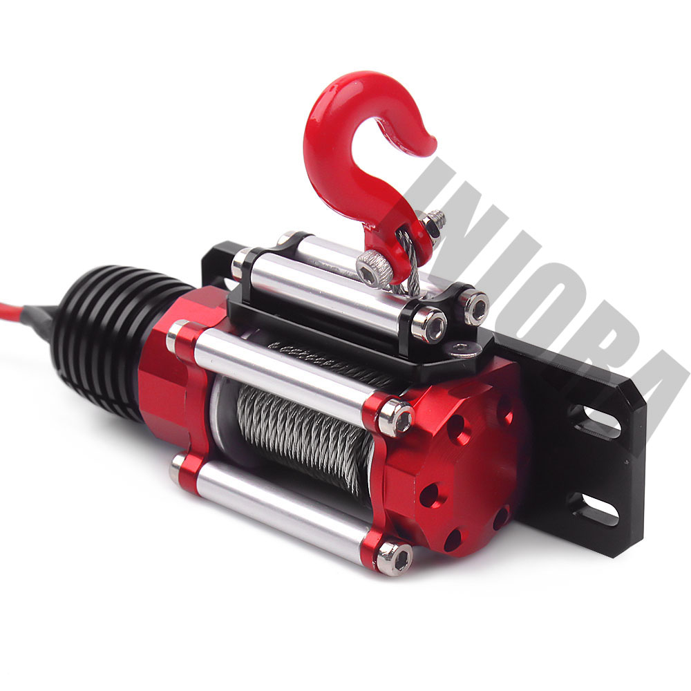 Image 4 - INJORA RC Car Metal Steel Wired Automatic Simulated Winch for 1/10 RC Crawler Car Axial SCX10 90046 D90 Traxxas TRX4-in Parts & Accessories from Toys & Hobbies