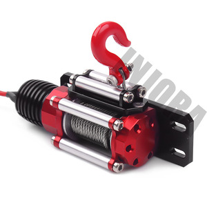 Image 4 - INJORA RC Car Metal Steel Wired Automatic Simulated Winch for 1/10 RC Crawler Car Axial SCX10 90046 D90 Traxxas TRX4