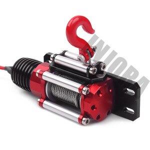 Image 4 - INJORA RC metalowy samochód stalowy przewodowy automatyczny symulowany wciągarka do 1/10 gąsienica RC oś samochodu SCX10 90046 D90 Traxxas TRX4