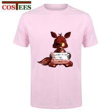 Manga corta fnaf Foxy de la felpa hombres camiseta hip hop camiseta algodón  o-cuello Camiseta Hombre más tamaño Marca Ropa de ad. 778b4f2cc3e