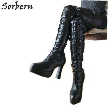 2e47d91f6d76 Find the best deals Crystal Queen Ankle Strap High Wedges Platform Pumps  Large Size Bridal Shoes