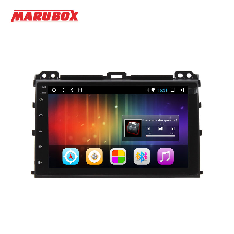 MARUBOX Quad Core 2 Din GPS Android 7 1 For Toyota Land Cruiser Prado 120 2002