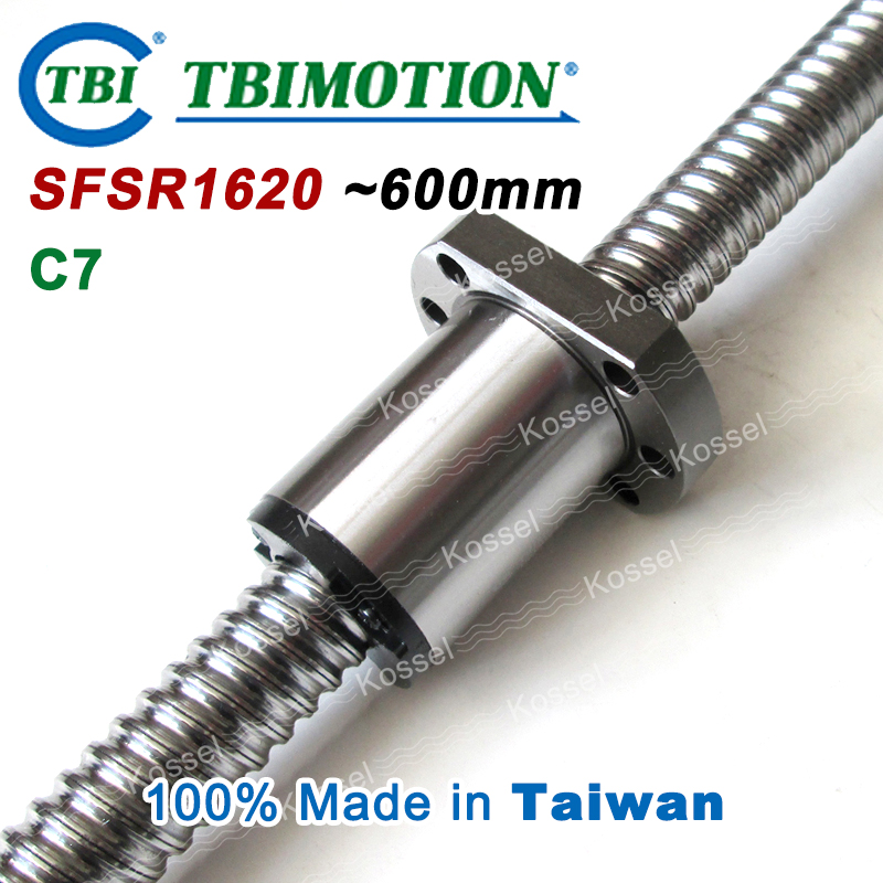 TBI ballscrew 1620 C7 600mm with SFS ball nut SFS1620 + end machined for high stability CNC kit set горелка tbi 240 3 м esg