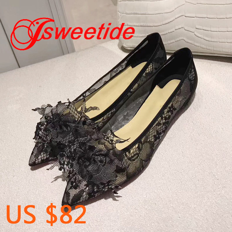Marque Femme Fleur Femmes Oxford noir Nouveau Chaussures Sport Dentelle Romantique Appartements Qualité Pointu Haute De Décontracté Beige Mode rQtdxshC