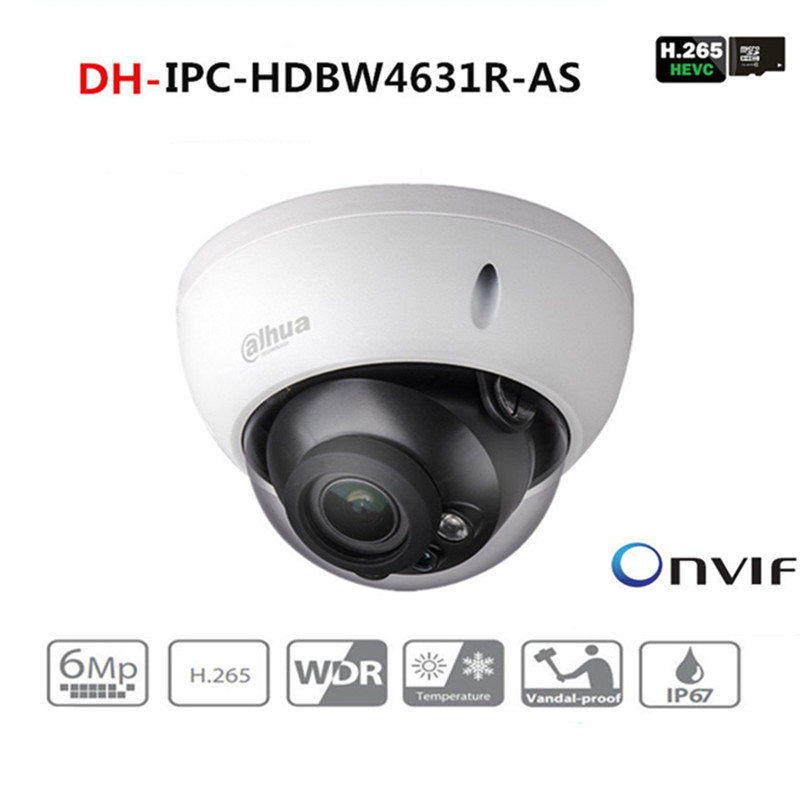DH 6MP Camera IPC-HDBW4631R-AS Upgrade From IPC-HDBW4431R-AS IK10 IP67 Audio &Alarm Port PoE Camera With DH LogoDH 6MP Camera IPC-HDBW4631R-AS Upgrade From IPC-HDBW4431R-AS IK10 IP67 Audio &Alarm Port PoE Camera With DH Logo