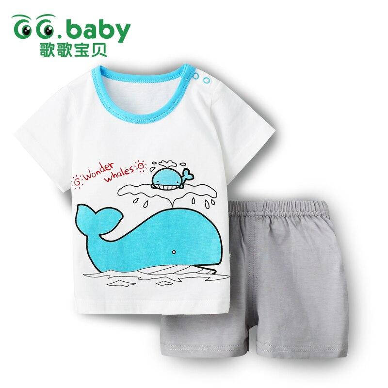 2016 Cotton Short Sleeve Baby Clothing Set Summer Cheap Newborn Toddler Baby Boys Clothes Set Roupas Bebes Adorable Infant Sets