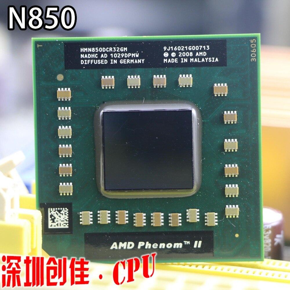 Livraison gratuite AMD cpu ordinateur portable N850 HMN850DCR32GM CPU 1.5 m Cache/2.2 ghz/Prise S1 triple Noyau Portable processeur N 850 N-850