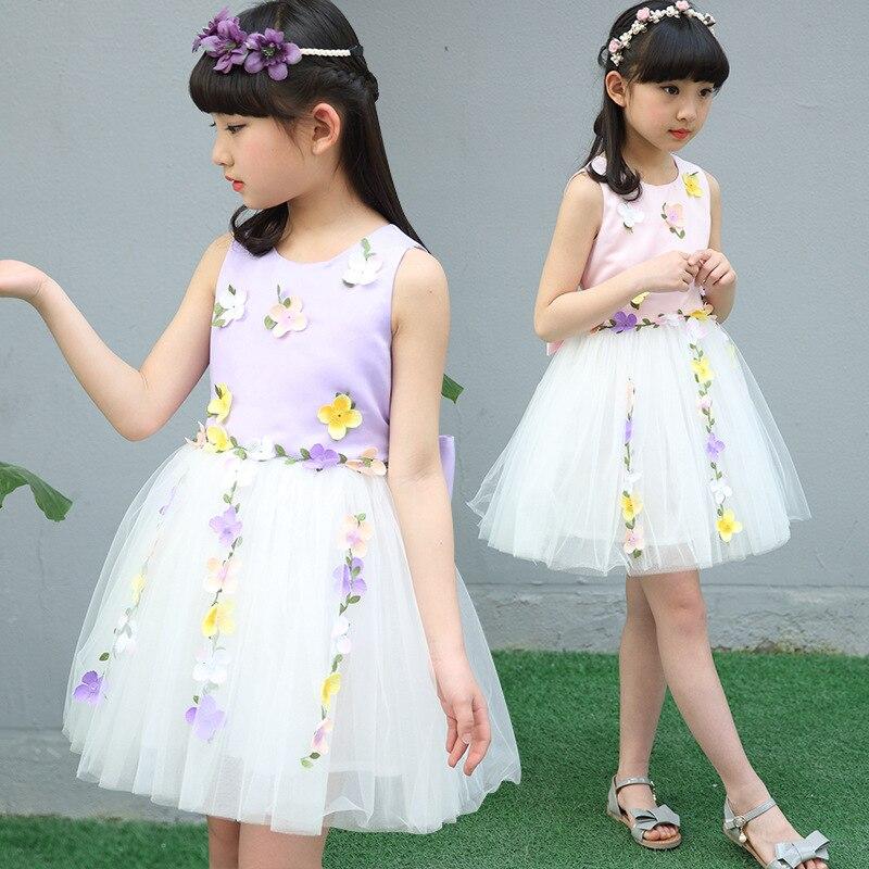 1328 20 De Descuentovestidos Bonitos Para Niñas Vestidos De Algodón Sin Mangas De Verano Para Niñas Y Niñas Vestidos De Flores De 5 A 14 Años Para