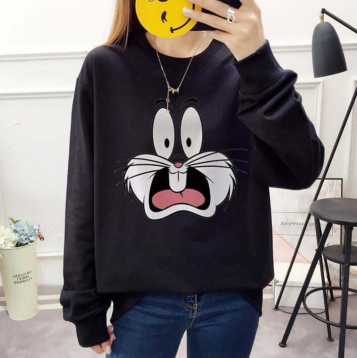 Korean Fashion Kpop Got7 Colorful Thick Sweatshirt Pullover Women Long Sleeve Hoodies Hip Hop Stitching Color Clothes Streetwear Hoodies & Sweatshirts