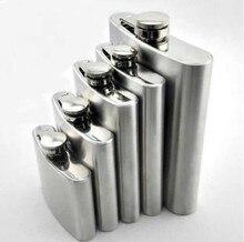 1PC Stainless Steel Hip Flask Liquor Whisky Alcohol Cap + Funnel Drinkware Wine Bottle Drink Mug 7/8Oz Z641