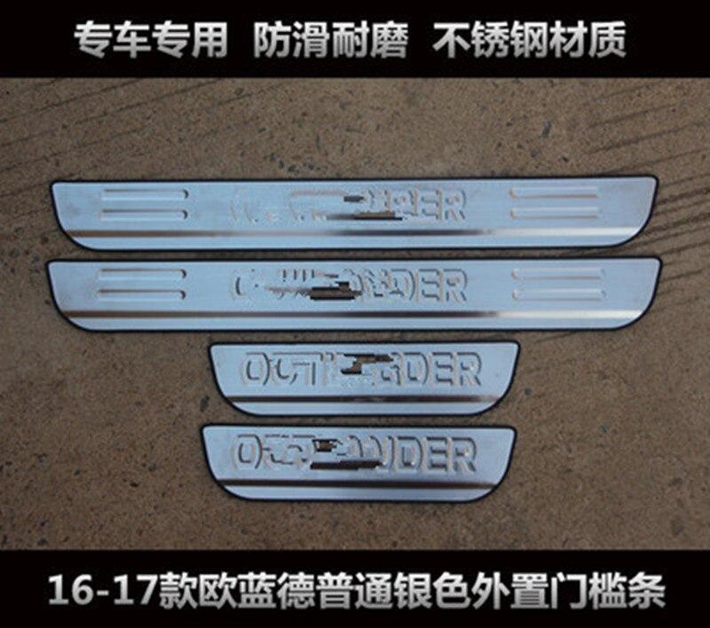 Placa del desgaste del acero inoxidable/La puerta alféizar pedal bienvenidos para Mitsubishi Outlander 2013-2016 Car styling