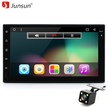 "Junsun 7 ""2 din Car DVD Player Radio Universal Android 6.0 GPS 1024*600 Quad Core PC Del Coche Estéreo RDS Reproductor Multimedia de Vídeo"