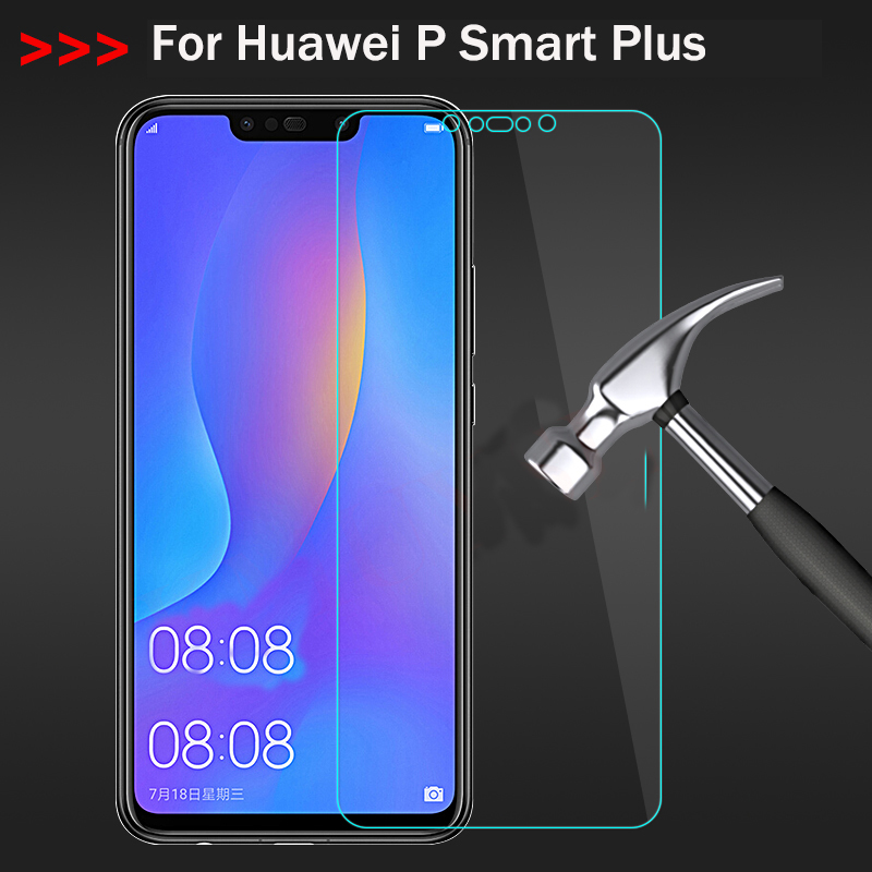 Tempered Glass on for Huawei P Smart Plus Screen Protector Smart+ Protective Film
