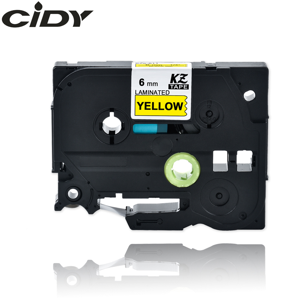 CIDY Compatible For Brother 6mm Tze Laminated Tape Tze611 Tze 611 Tze-611 Tz611 Tz-611 For Brother Label Maker Printer Ribbon