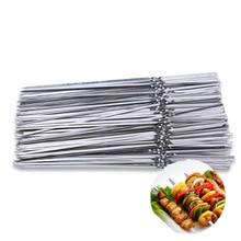 Yiwumart 15 шт. многоразовые мясные палочки из нержавеющей стали для барбекю, шашлыки, вилки для кемпинга, пикника, барбекю, инструменты для приготовления пищи