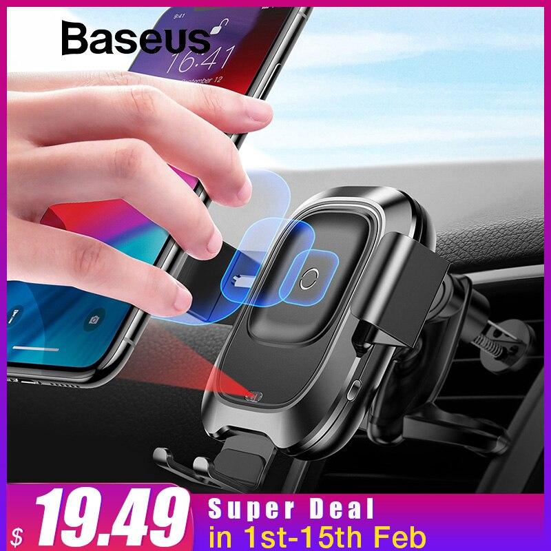 Baseus Auto Telefon Halter für iPhone Intelligente Infrarot Sensor Qi Auto Drahtlose Ladegerät Air Vent Halterung Handy Halter Stehen