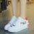 Zapatos de las mujeres estudiantes chicas casuales de cuero zapatos impermeables gruesos únicos zapatos de graffiti ocio blanco negro rojo todo el partido 2017 nuevo