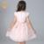 Nimble meninas vestido vestido de princesa bordado bow handmade flores frisada pérolas elegantes vestidos de vestido de renda