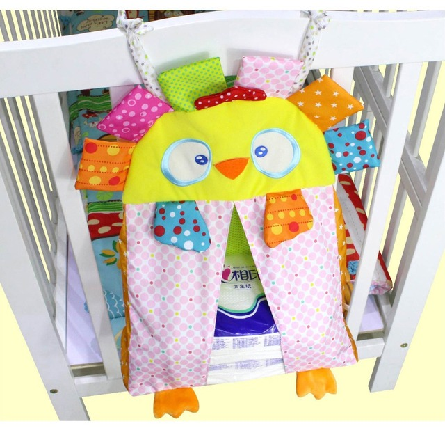 Newborn cot crib bedding set baby cot sets baby bed storage pockets diaper bag bed crib organizer baby hanging stoarage bag