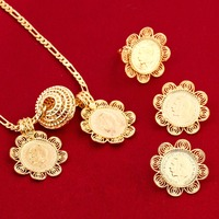 America Canada Israel Netherlands Gold Coin 5pcs Set Gold Plated Fillled Europe Jewelry