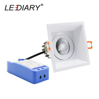 LEDIARY LED COB Downlights 220V Dimmable Driver White Ceiling Recessed Spot Lamp 90mm Cut Hole 5W/10W/15W Lighting Fixtures