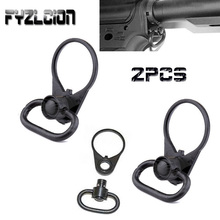 цена на 2PC .223/5.56 Quick Release End Plate Tactical Sling Installation and QD Sling Rotation Attachment Fits most weapons QD rigging