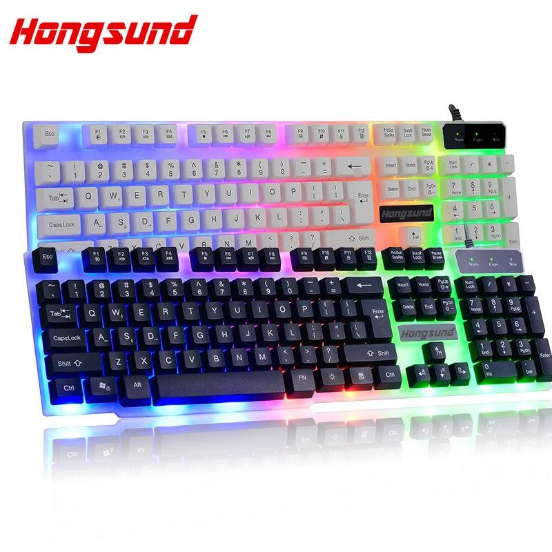 7 Color Keyboard tastierë prapa lojrave tastierë Teclado Wired - Periferikësh të kompjuterit