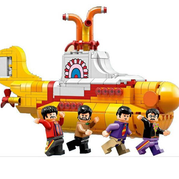 Lepin 21012 553pcs The Beatles John Winston Lennon Paul McCartney Harrison Ringo Starr Yellow Submarine Building Blocks Toys lepin 21012 builder the beatles yellow submarine with 21306 building blocks bricks policeman toys children educational gift toys